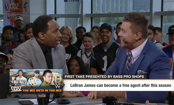 Stephen A. Smith And The Miz Screaming About LeBron And The Cavs Is Entertaining