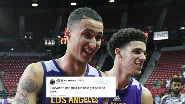 Kyle Kuzma's Mom Tweets To Lonzo To Chill Out