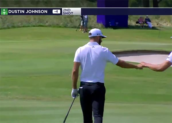 Watch Dustin Johnson Nearly Hole Out From The Fairway On Back To Back Holes
