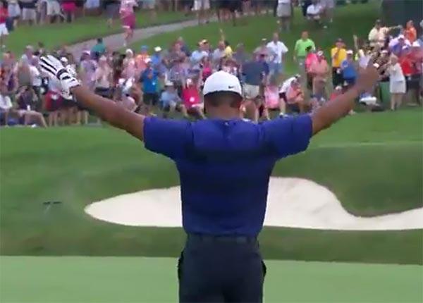 VIDEO: Tiger Woods Sinks 95 Yard Eagle
