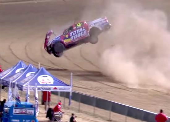 Crazy Massive Rollover in SuperUtes Race