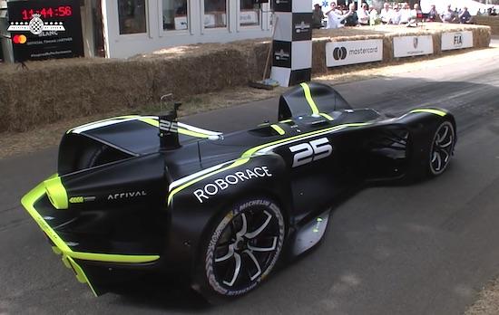 Roborace's First Ever Driverless Hillclimb