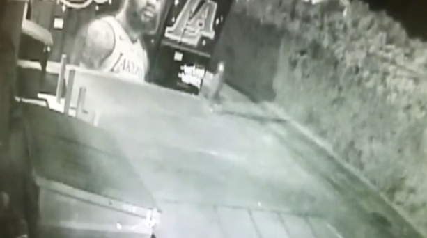 Surveillance Video Shows Lakers Fan Truth Bombing LeBron James Mural