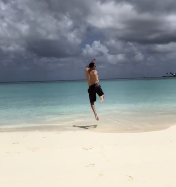 Giancarlo Stanton Skipping Around The Bahamas With Supermodel Chase Carter