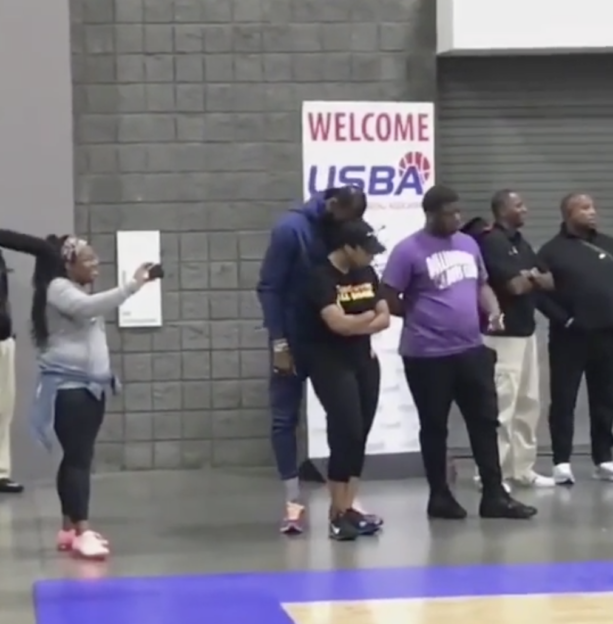 LeBron James Doing The Most With His Wife Savannah At Sons Basketball Game