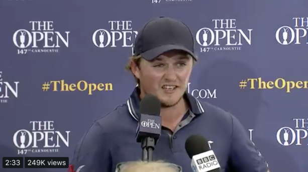 Hungover Golfer Finishes Open With 67 & Talks About It