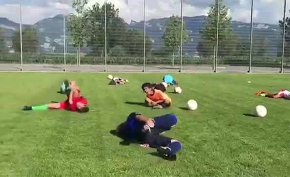 Swiss Youth Soccer Team Roasts Neymar With Flopping Drill (VIDEO)