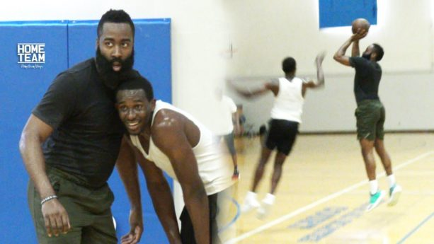 James Harden Balling Out At UCLA Run