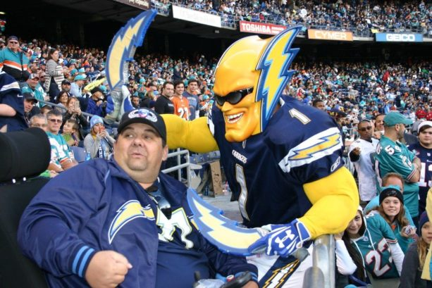 People Are Bidding A Lot Of Money To Be The Chargers' Next 'Boltman'
