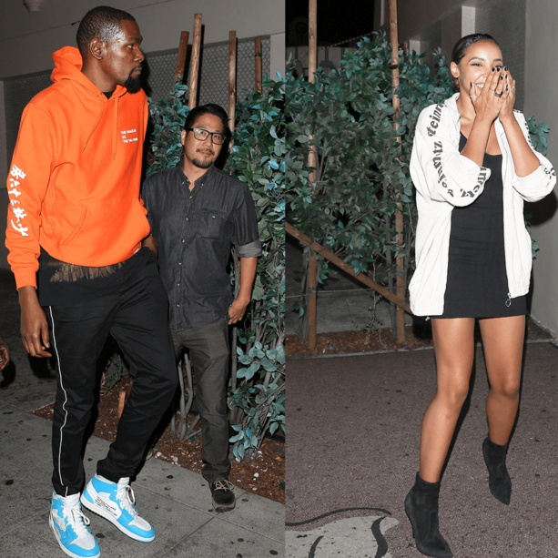 Kevin Durant Sneaking Out Of The Club With Ben Simmons Ex?