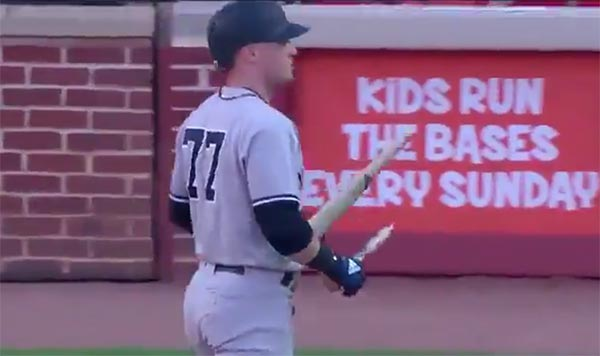 Yankees Clint Frazier Channeled His Inner Bo Jackson (VIDEO)