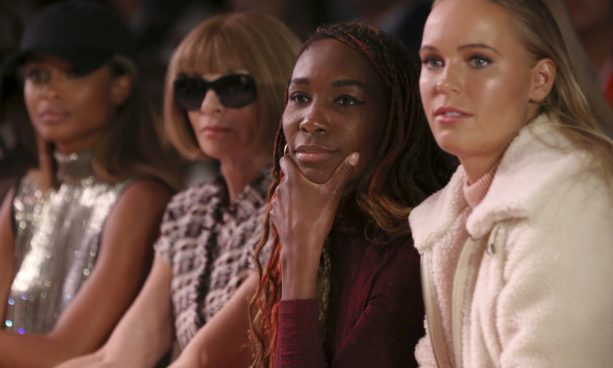 Caroline Wozniacki and Venus Fashion Show Posers