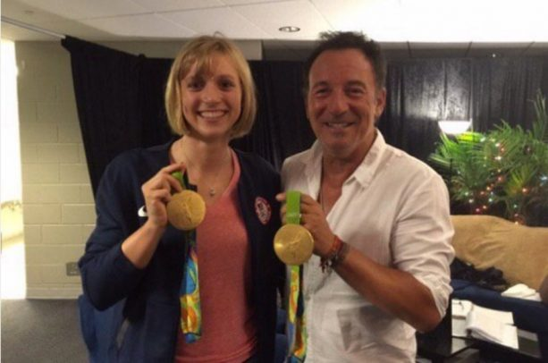 Katie Ledecky Meets the Boss