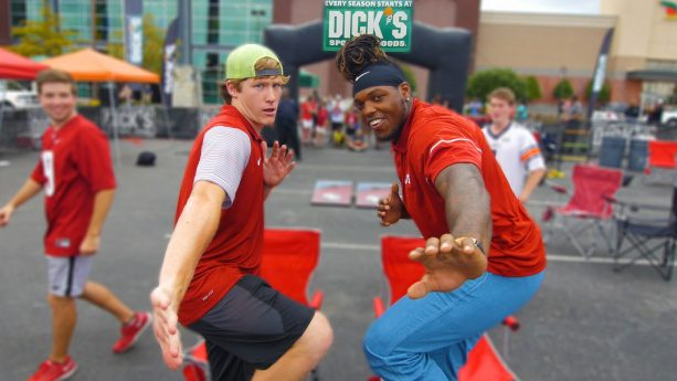NFL Rookie Derrick Henry Performs Tailgating Trick-Shots