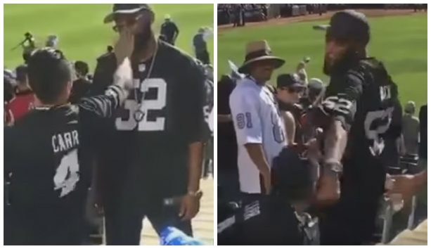 Raiders Fans Fight Each Other At Game
