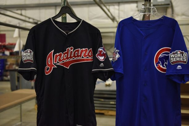 First Look at CUBS/INDIANS World Series Jerseys