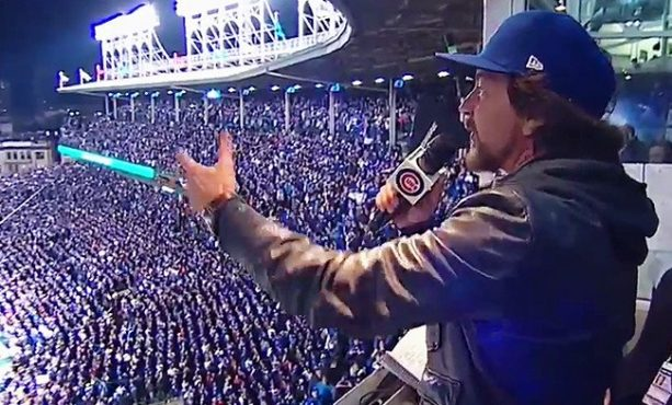 Eddie Vedder Duets with Harry Caray For Take Me out to the Ballgame