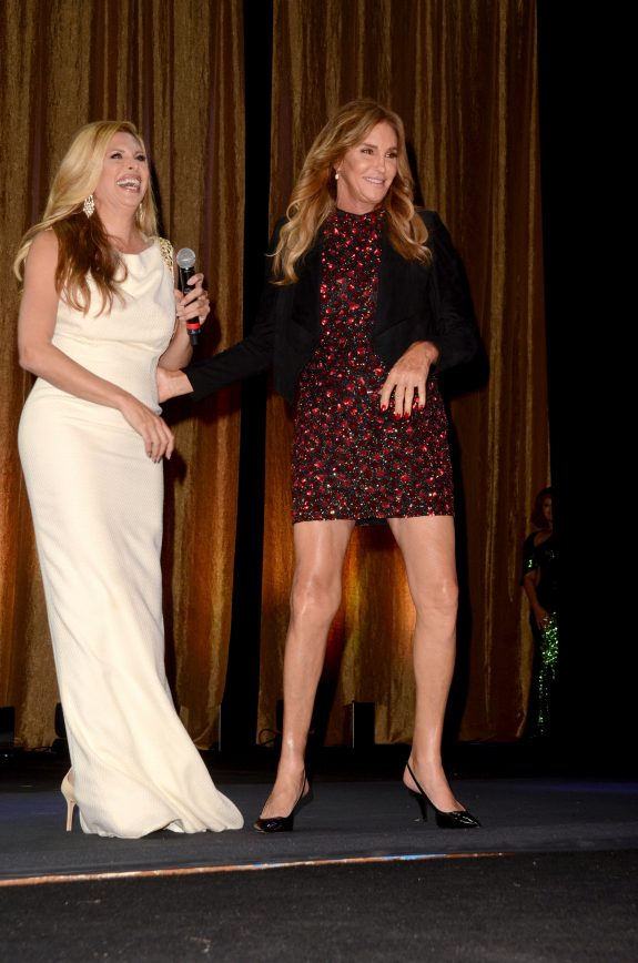 Caitlyn Jenner and Kelly Osbourne†attend the 15th Annual Queen USA Transgender Beauty Pageant held at The Theatre at Ace Hotel in Los Angeles, California. Pictured: Caitlyn Jenner, Candis Cayne Ref: SPL1379323  231016   Picture by: @ParisaMichelle / Splash News Splash News and Pictures Los Angeles:	310-821-2666 New York:	212-619-2666 London:	870-934-2666 photodesk@splashnews.com