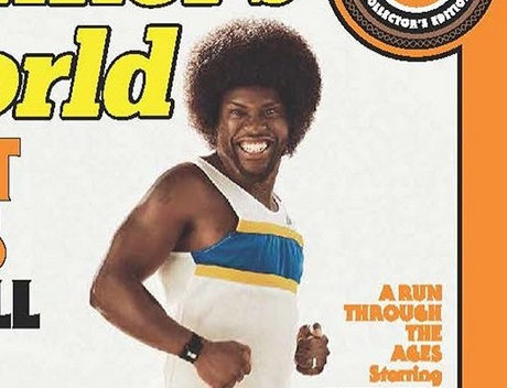 Kevin Hart goes retro on cover of Runnersworld
