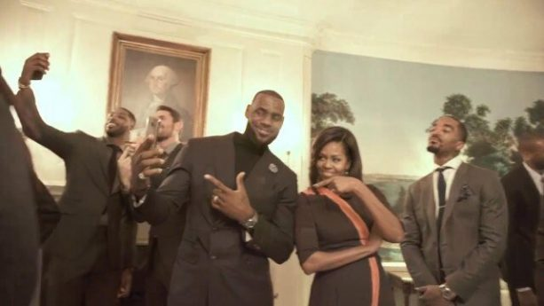 Cavs Mannequin Challenge at the White House