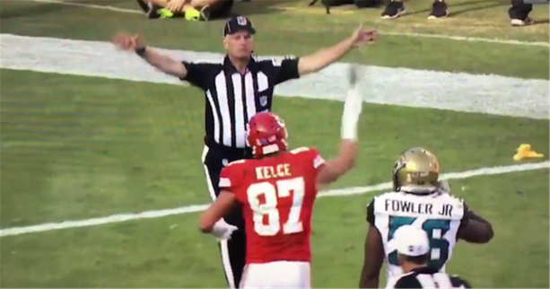 Travis Kelce So Disrespectful to NFL Ref