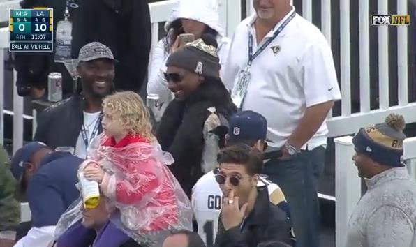 Snoop D.O. Double G at the Rams Game