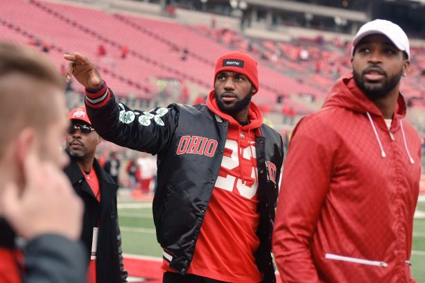 info for 7d6c3 81e2e LeBron James Playing Catch With His Posse At Michigan Ohio ...