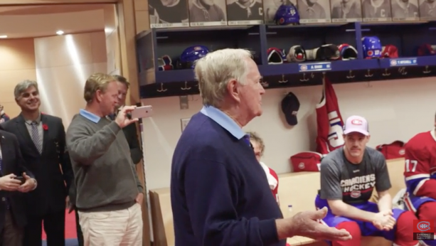 Jack Nicklaus Gives Montreal Canadiens Pregame Speech