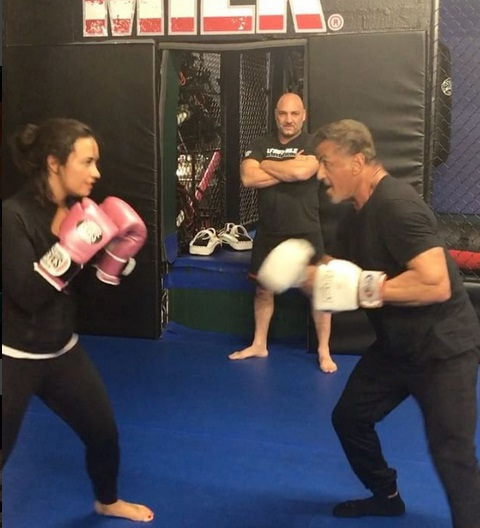 Demi Lovato Sparring with Rocky