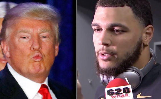 Mike Evans Sits During Anthem To Protest Trump