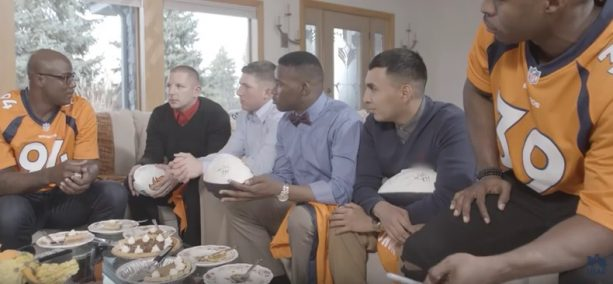 NFL star surprises military for home-cooked meal