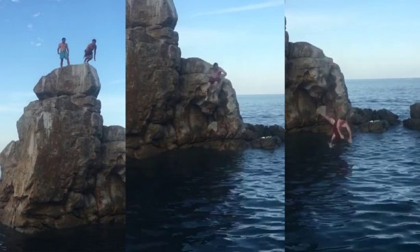 john-peterson-front-flip-off-rocks-in-mexico