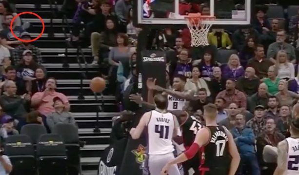 Rudy Gay Tosses Shoe at Fan's Face