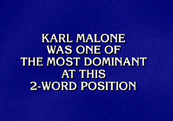 Karl Malone Answer Doesn't Deliver on Jeopardy