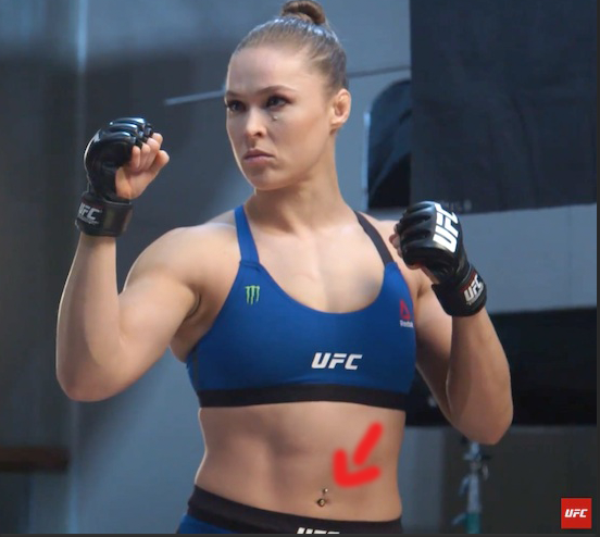 Ronda Rousey And Belly Button Ring Make Appearence On Embedded