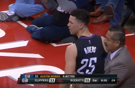 Austin Rivers And Doc Rivers Got Ejected Last Night