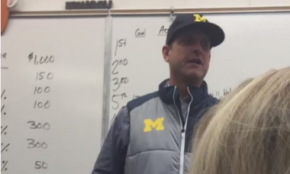 Jim Harbaugh Killed Time Talking About Philosophy In A Michigan Classroom