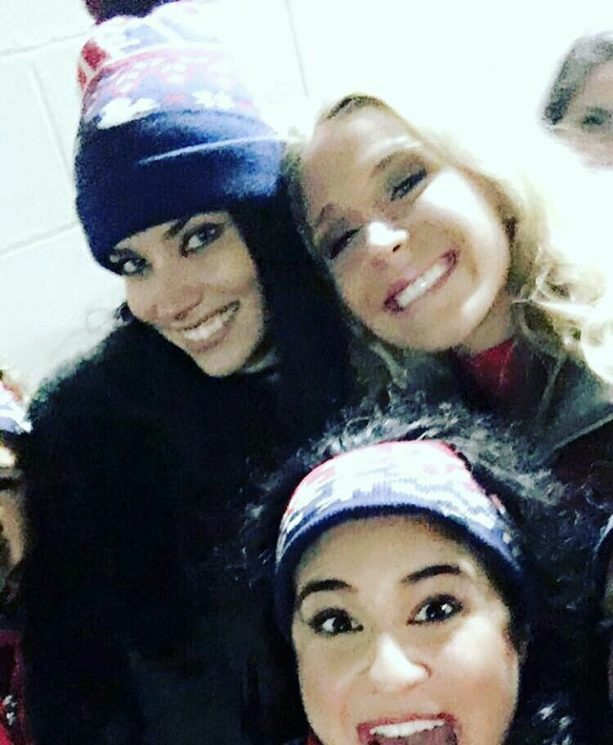Adriana Lima was at the AFC Championship Game