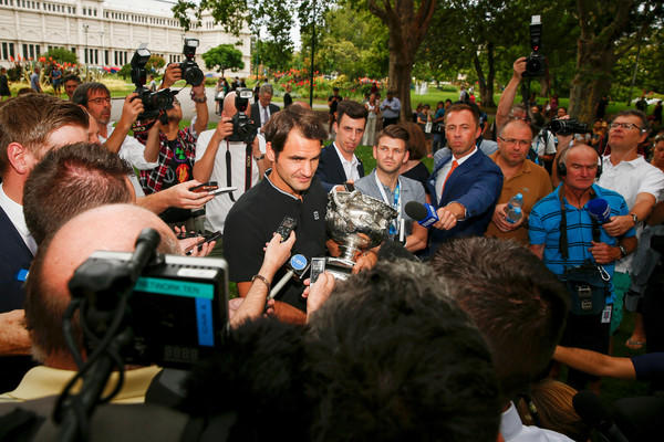 Roger Federer Ejoying The Fruits Of His Labor