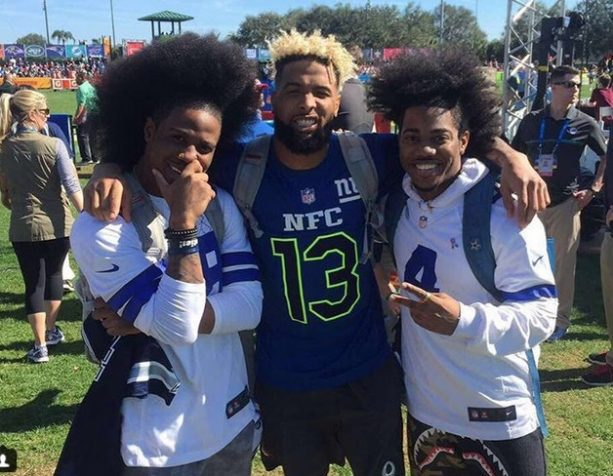 Odell beckham jr part of the wild hair boys terez owens 1 new york giants superstar wideout odell beckham jr was selected to his third pro bowl in as many seasons and hes enjoying himself thoroughly m4hsunfo