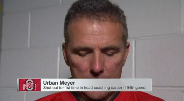 Urban Meyer Shutout For The First Time In Fiesta Bowl Loss To Clemson