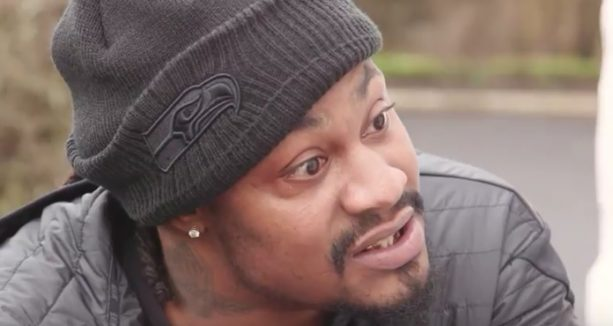 Marshawn Lynch and Skittles go to the Houston in Scotland