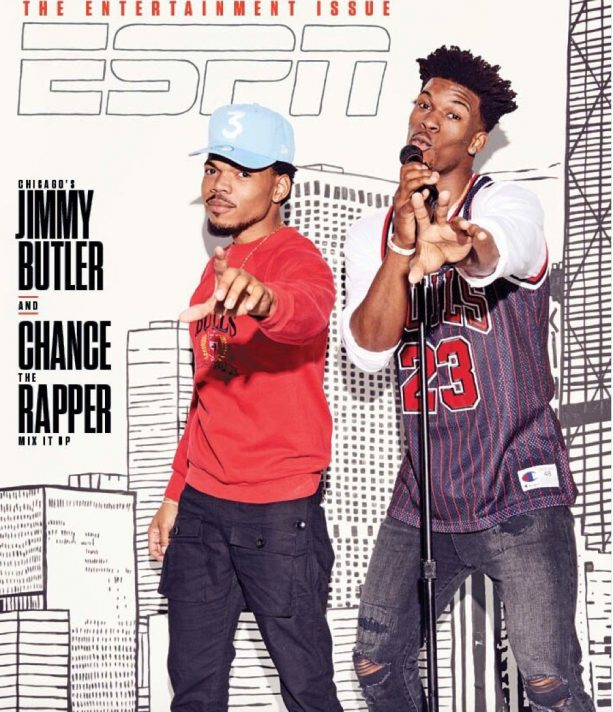 Jimmy Butler Poses with Chance the Rapper