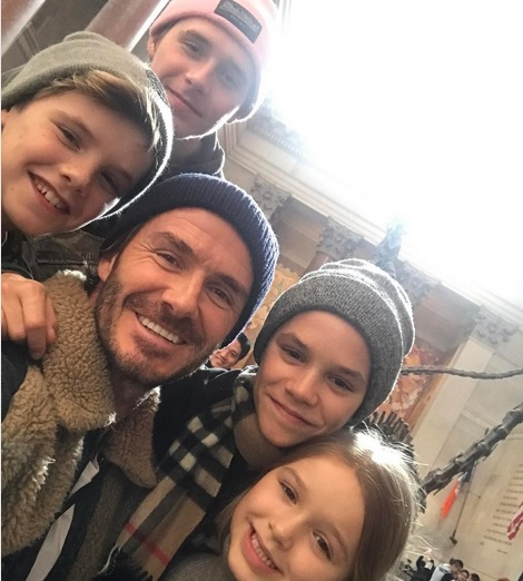 Entire Beckham Family First Row at Victoria's Fashion Show