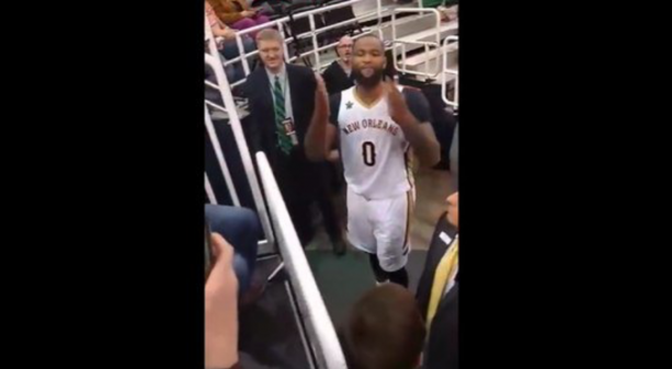 DeMarcus Cousins Lashes Out On Another Fan For Calling Him Soft!