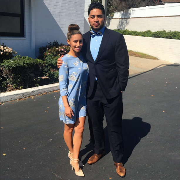 Manti Te'o and His Real Girlfriend All Dressed Up