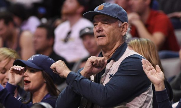 Bill Murray Throws up the X