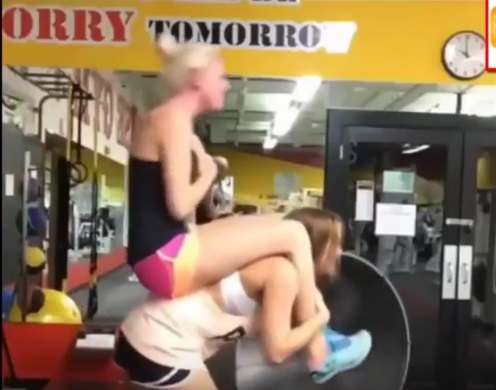 Check Out The Ultimate Funny Girls Gym Fails In One Short Video Below Itll Make Your Day To