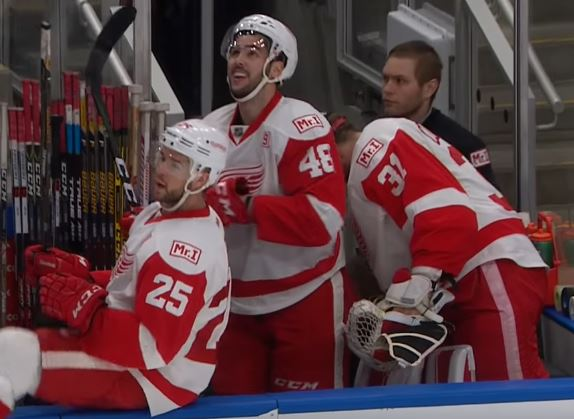 Hockey Player Got Checked Into His Own Bench