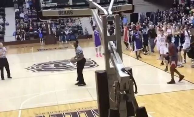 High School Basketball Referee Throws Down A Windmill Dunk During an All-Star Game